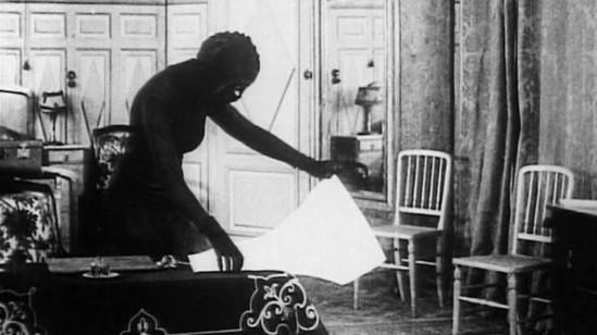 Musidora in Les Vampires by Louis Feuillade.