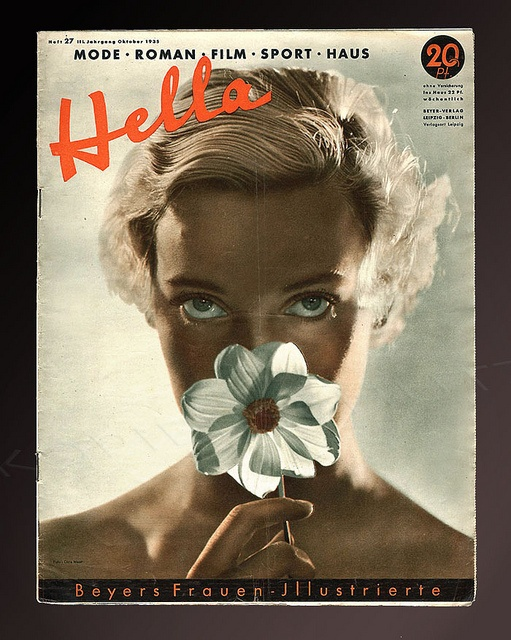 Dora Maar- Portrait of Assia, cover of Hella magazine, 1935