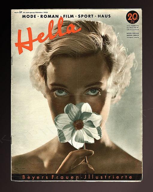 Dora Maar- Portrait of Assia, cover of Hella magazine, 1935