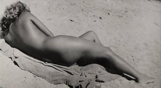 Aurel Bauh- Nu sur la plage, 1937-1940