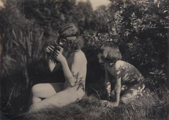 Marcel Meys - Etude à la flûte de pan, ca. 1925.