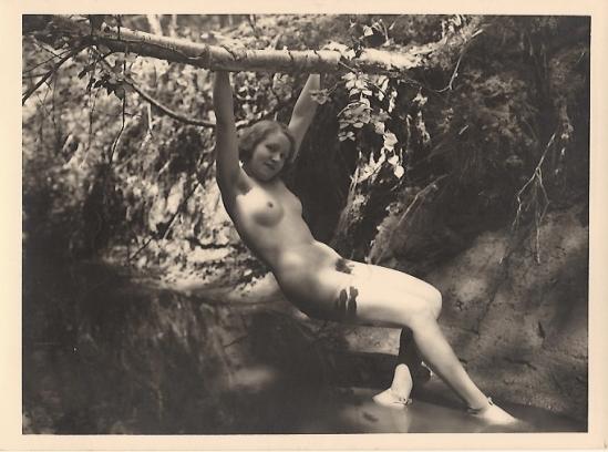 Marcel Meys femmes Nude Study extérieure 1920