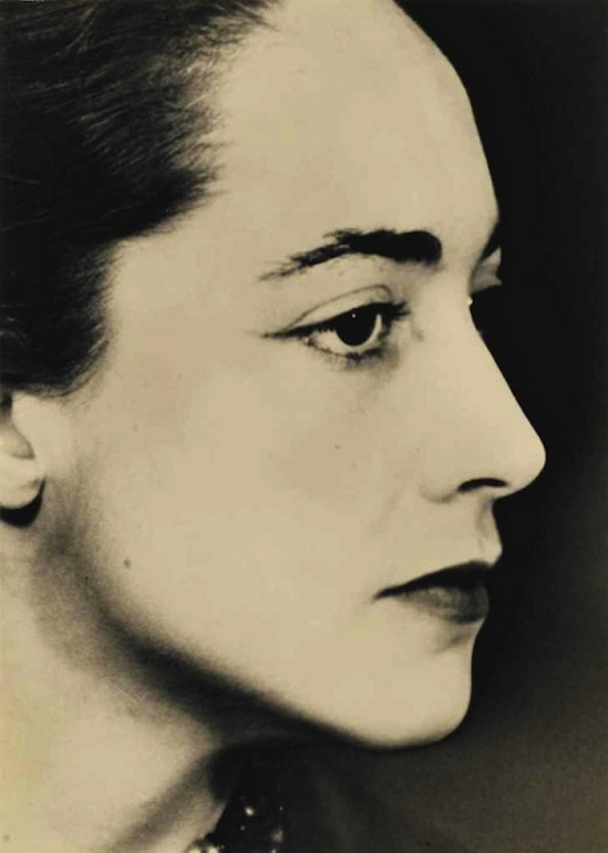 Man Ray- Portrait de Bona de Mandiargues , 1955