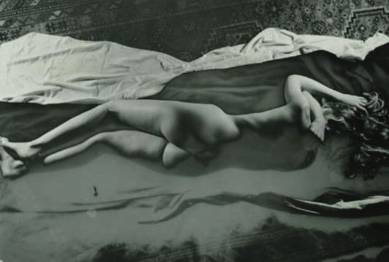 Raoul Ubac -Nu Couché. Solarized silver print,1938