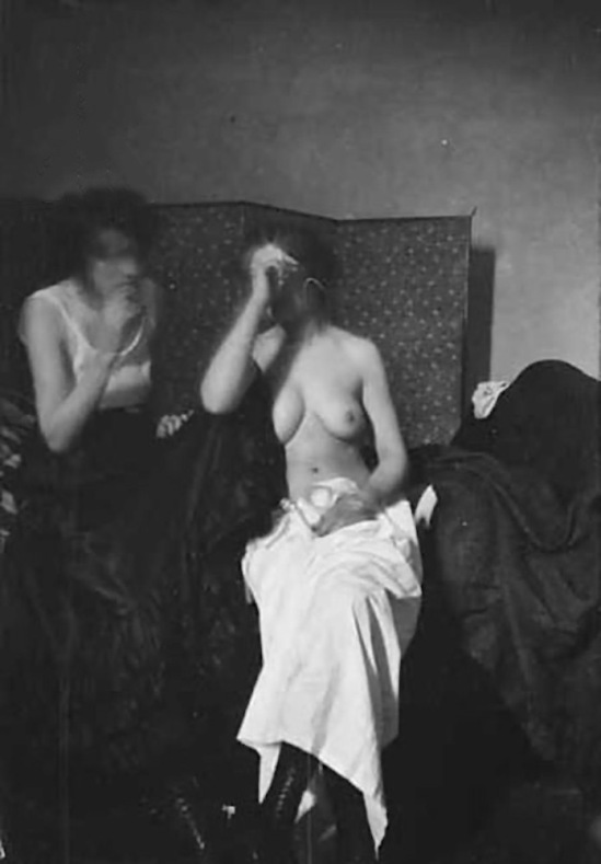 George Hendrik Breitner-Study naked with two women ( Naaktstudie met twee vrouwen ) , 1889-1915 [ modern print from negative]