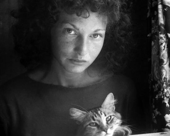 Maya Deren with her cat by Alexandr Hackenschmied, 1942 43
