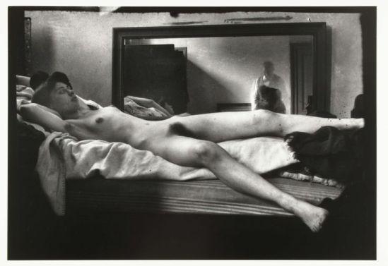 George Hendrik Breitner,Portrait d'une femme nue dans le miroir avec le reflet de Breitner , 1890-1910