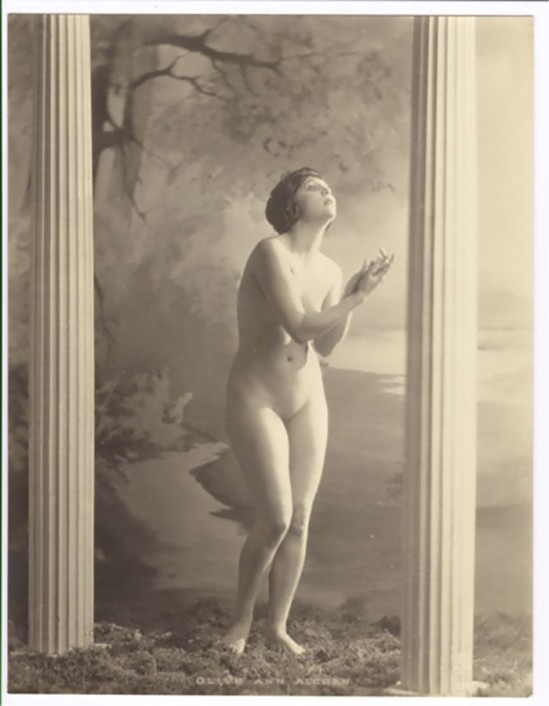 Ann Alcom In the early 1920's, she posed for photos contained in a nude art instruction book, Alta Art Studies Volume I, published by the Alta Studios,San Francisco by Alexander Xan Stark