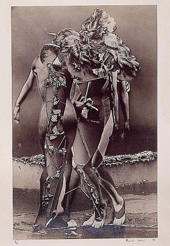 """Raoul Ubac-Le Triomphe de la stérilité 1937, photomontage, solarisé, paru dans le no 10 du """"Minautaure"""", hiver 1937"""