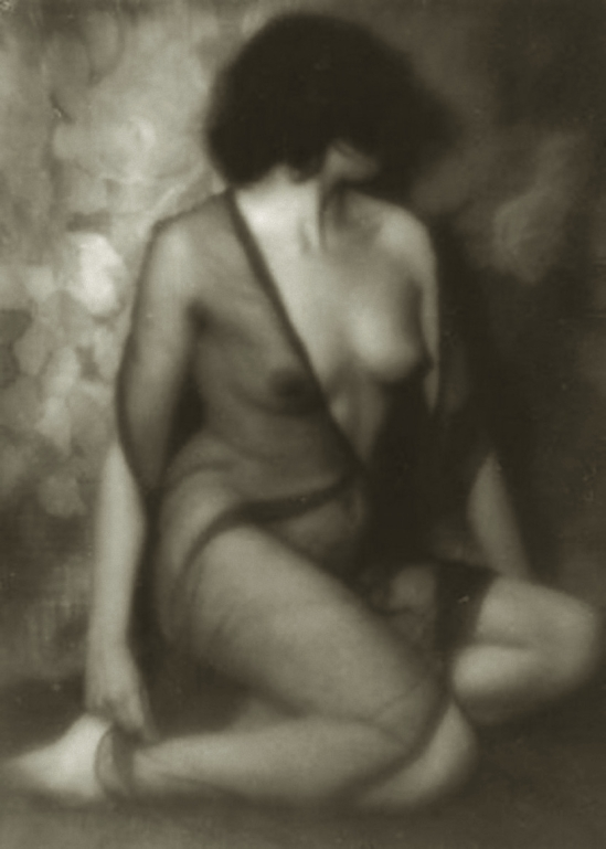 Alexander Danilovich Grinberg -Nude Study with veil ( The Theatre of Meyerhold ), 1913-14