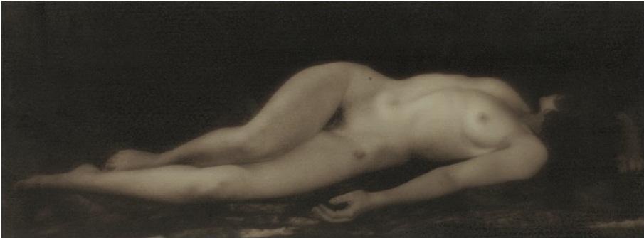 Alexander Danilovich Grinberg- Reclining Nude Study, Dark Tone, 1930