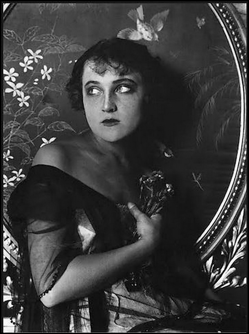 Alexander Danilovich Grinberg -unknown model, Actress' Portrait.1910
