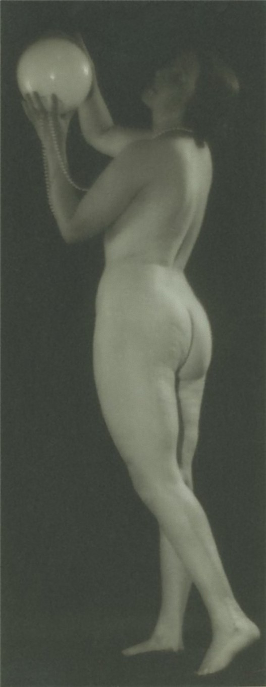 Alexander Grinberg- Nude Study with ball, 1930