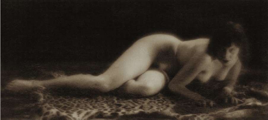Alexander Grinberg -Reclining Nude Study, Dark Tone, 1930