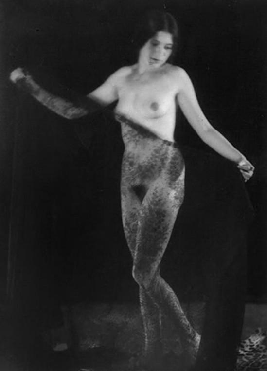 Alexander Grinberg- Veiled nude study 1920