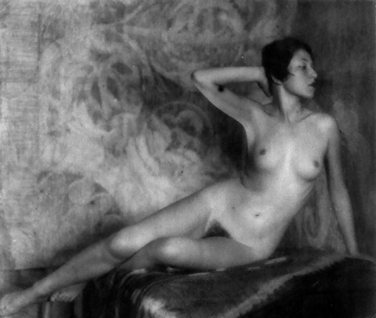 Alexandre Grinberg - Nude Study with veil, 1920s