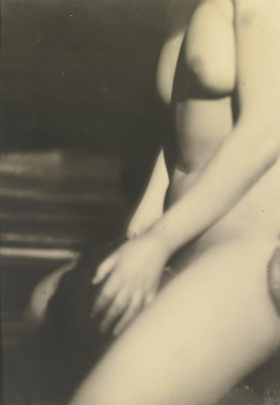 "Germaine Krull- EROTIC NUDE , circa 1930 Vintage silver printfrom ""Études de nu"". Par Germaine Krull. Preface by Jean Cocteau.With 24 loose illustrations after photographs printed in photogravure, Paris, Librairie des Arts décoratifs, ,1930."