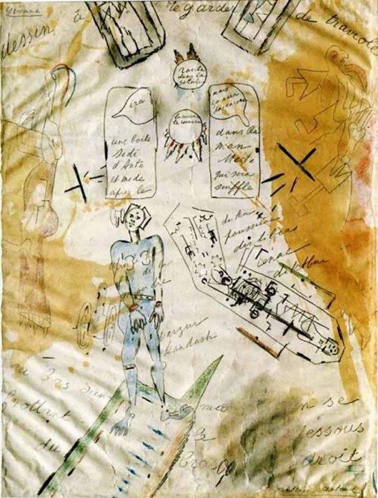 Antonin Artaud – La Machine de l'être ou Dessin à regarder de traviole, 1946