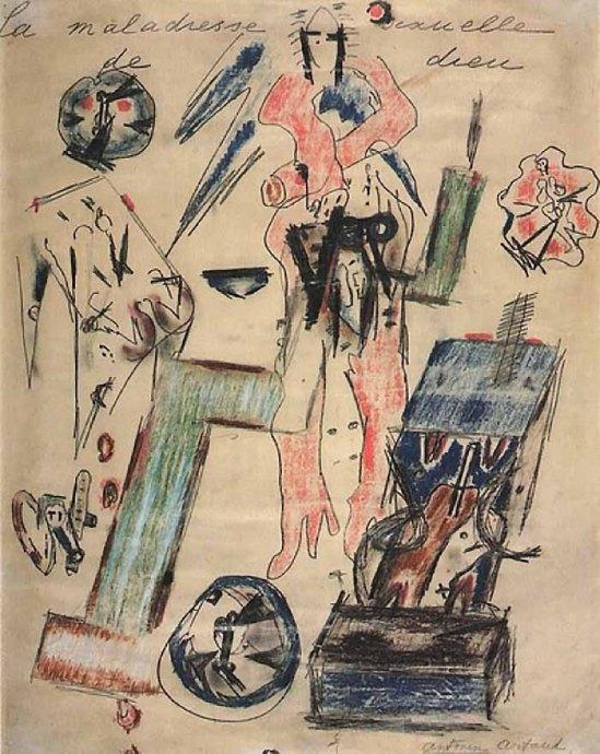 Antonin Artaud, La Maladresse sexuelle de dieu, 1946 (2)