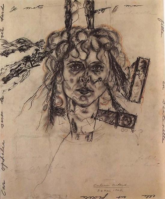 Antonin Artaud -Portrait de Paule Thevenin,1947