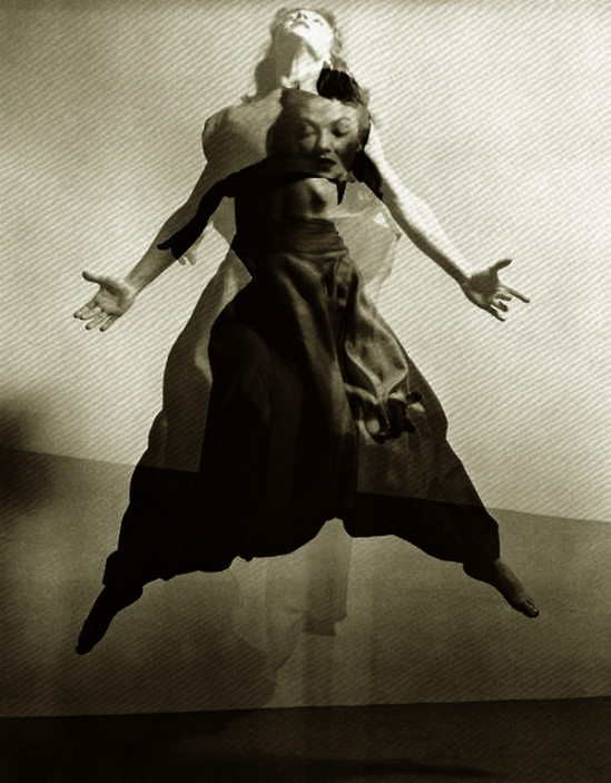 Barbara Morgan - Valerie Bettis  The Desparate Heart, 1944. Photomontage