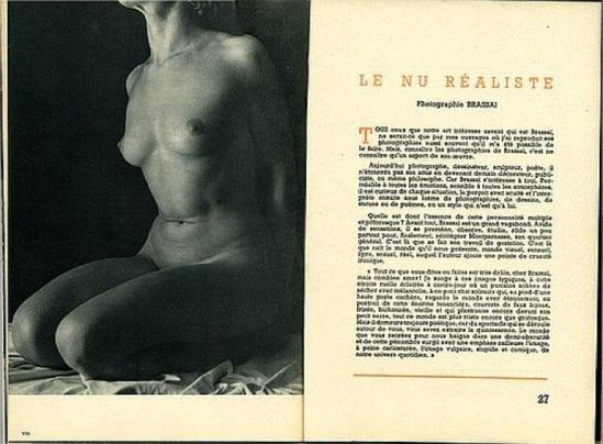 "Brassaï plate from  ""Le Nu Realiste"" with photographs by Brassaï [Marcel Natkin's book ""Le Nu"" (Editions Tiranty-Paris) - Boucher, Jahan, Sougez and Brassaî.] 1949"
