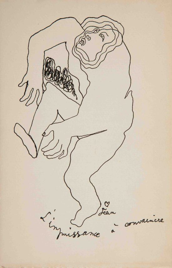 Couverture dessin de Jean Cocteau pour Ernest Hemingway Today is Friday, Englewood, New Jersey,  The As Stable Publications, 1926.