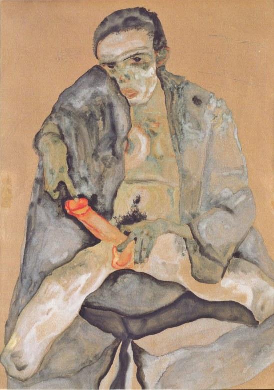 Egon Schiele - Die Rote Hostie (L'hostie rouge), 1911