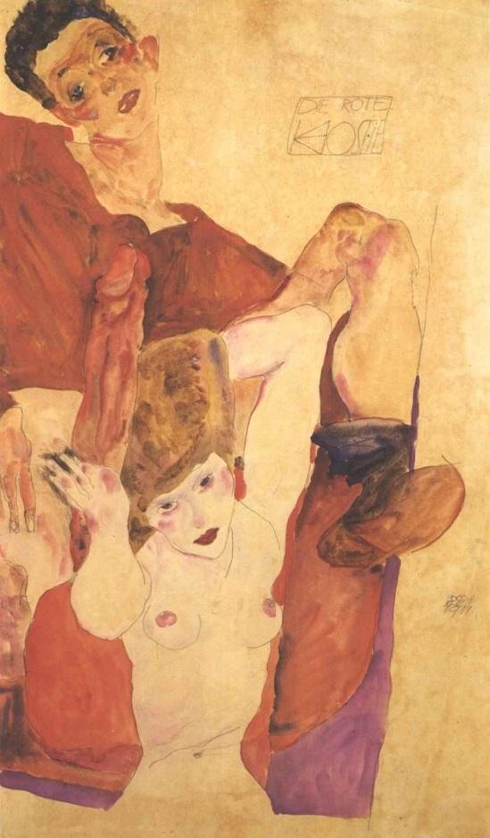 Egon Schiele-Die Rote Hostie (L'hostie rouge), 1911