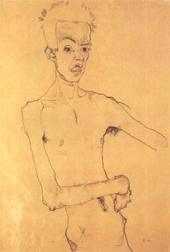 Egon Schiele- Selbstbildnis, 1910
