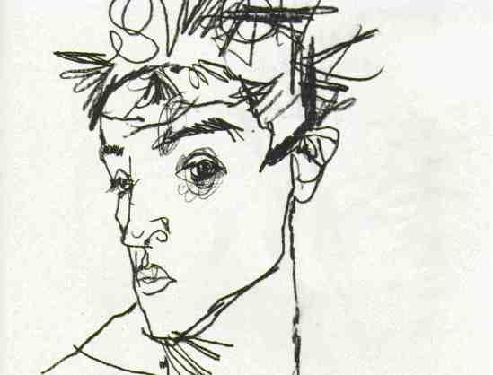 Egon Schiele - Selbstbildnis, 1913