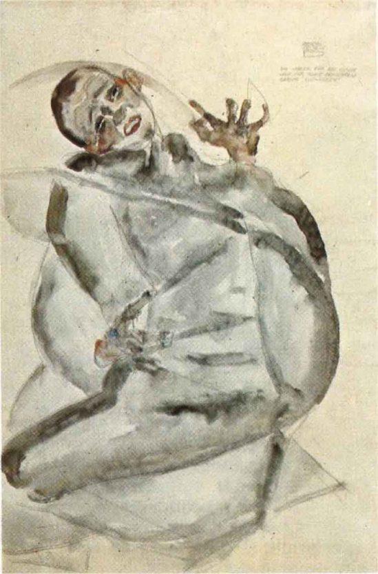 Egon Schiele - Selbstportrait Gefangenen (Self-portrait prisoner ) 1912