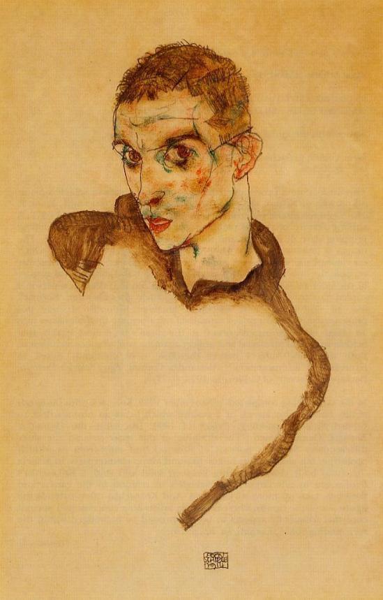 Egon Schiele -Selbstporträt  1914
