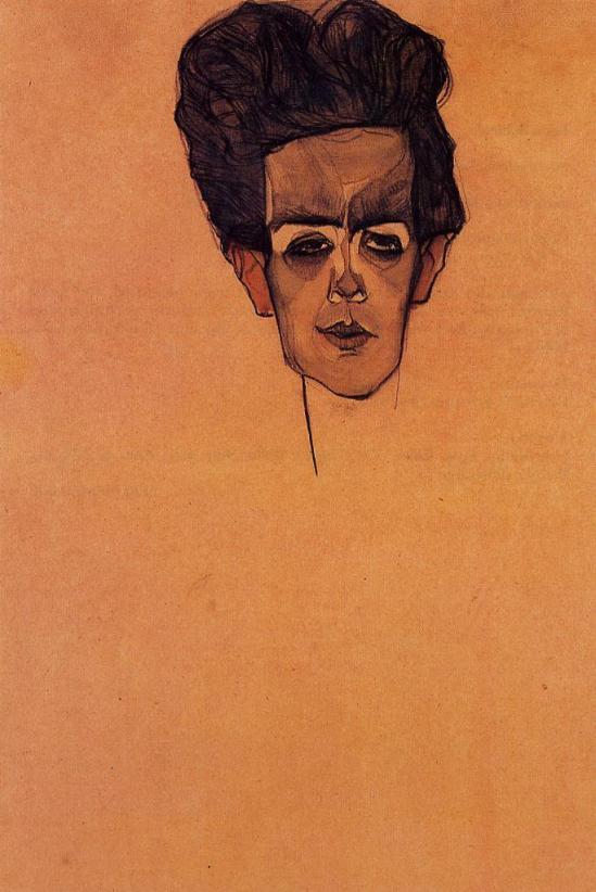 Egon Schiele -Selbstporträt,Self Portrait, 1910