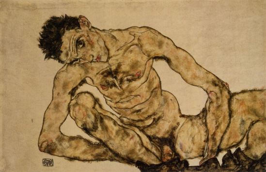 Egon Schiele- Nackt Selbstportrait 1916 (Self Nude), 1916