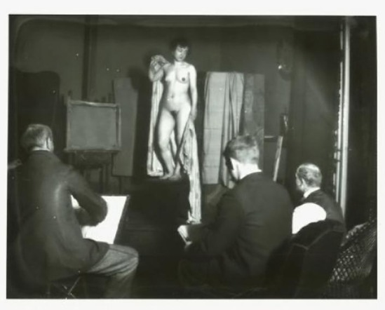 Heinrich Zille Abendakt in einem Maleratelier 1899-1900