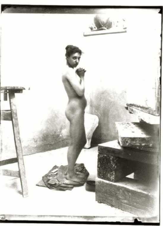 Heinrich Zille-Aktstudie probablement Rosa Meissner,1900s.