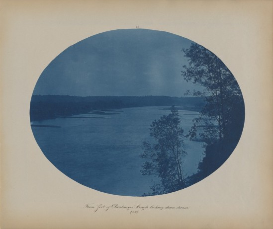 Henry Bosse American, 1844 - 1903 From Foot of Boulanger Slough Looking Downstream, Views on the Mississippi River, 1891 Cyanotype