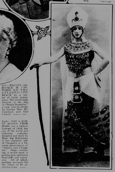 Ida Rubinstein- Cleopatre, New -York Tribune, 17 October 1920