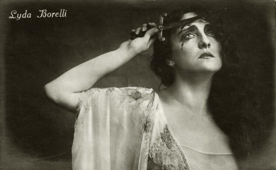 Italian actress Lyda Borelli,  1920s.