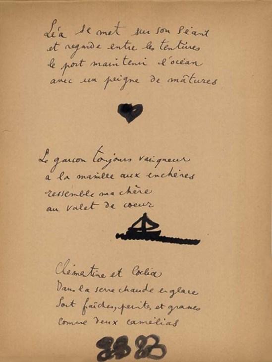 Jean Cocteau - from Escales  # 11 sur papier fort,  1920 Éd° de la Sirène (source Binoche et Giquello)