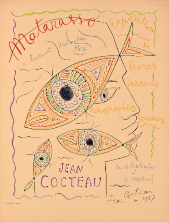Jean Cocteau Matarasso 63 x 49 cm Litho 1957