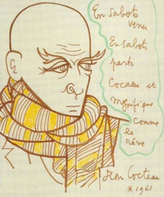 Jean Cocteau  protrait de max jacob