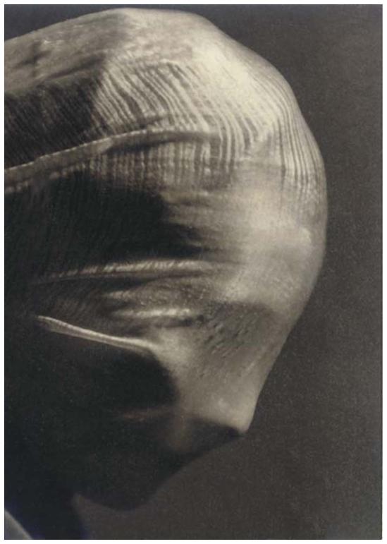 Josef Sudek - Profile of a veiled head, 1942