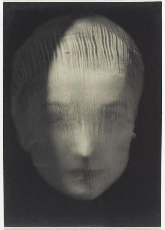 Josef Sudek-  Veiled Woman, Frontal Portrait, 1942