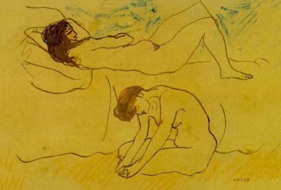 Pablo Picasso- Deux nus 1902