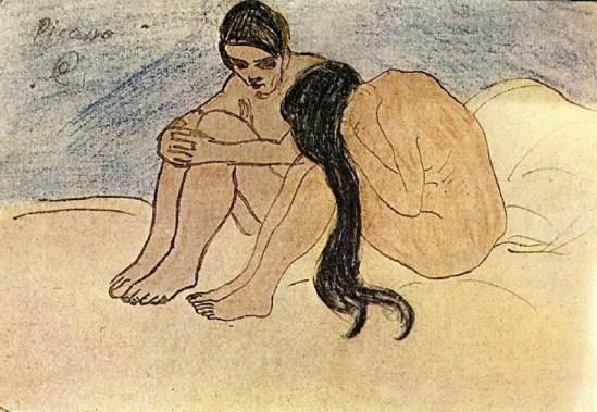 Pablo Picasso- Homme et femme 1902
