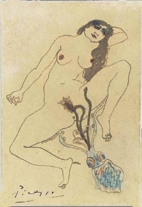 Pablo Picasso- Le poulpe  et l'algue 1903 - Copie