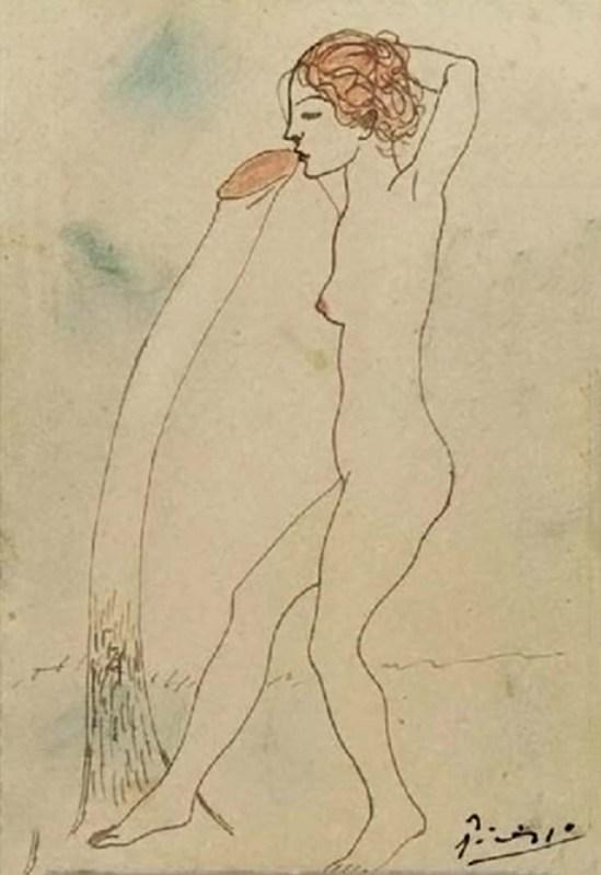 Pablo Picasso- Le poulpe  et l'algue 1903