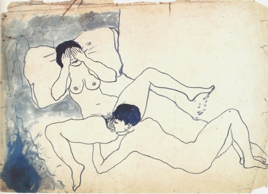 Pablo Picasso-Scène érotique 1902